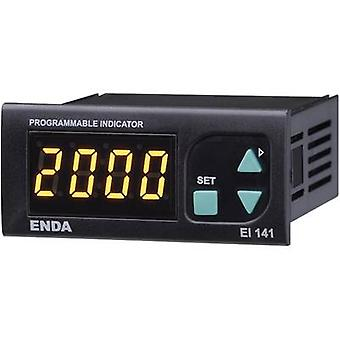 Digital rack-mount meter Enda EI141-SM SW Universal LED display El141 0 20 mA/4 - 20 mA/0 - 1 V/0 - 10 V Assembly dimensioner 70 x 29 mm