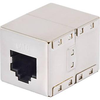 RJ45 Networks Adapter CAT 6 [1x RJ45 socket - 1x RJ45 socket] 0 m Metal Renkforce