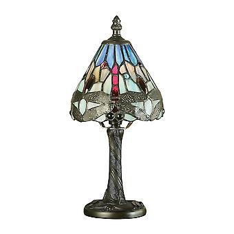 Interiors 1900 Blue Dragonfly Miniature Tiffany Bedside Desk Lamp