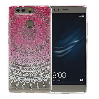 Cubierta de la henna para Huawei P10 de silicona caso protector rosa sol