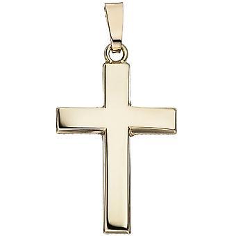 Anhänger Kreuz schlicht 585 Gold Gelbgold Kreuzanhänger Goldkreuz
