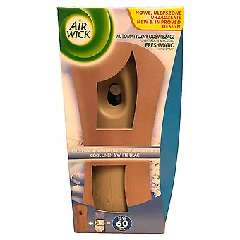 Air Wick Freshmatic Automatic Cool Linen & White Lilac Spray Holder & Refill