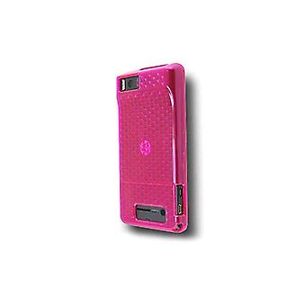 Motorola Droid X MB810 High Gloss Silicone Case (Pink) (Bulk Packaging)
