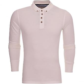 Brave Soul Mens High Quality ‰Û÷Long Sleeved‰Û÷ Cotton Pique Polo T-Shirt Polo Collared Top