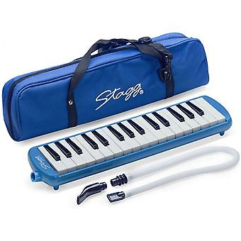 Stagg MELOSTA32BL Melodica Reed Keyboard - Blue