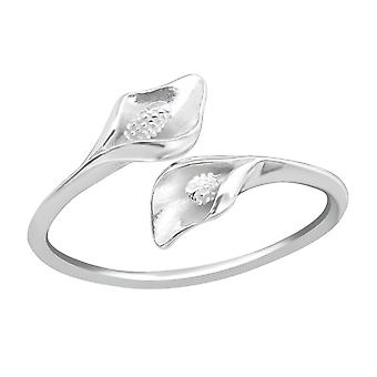 Calla Lily Flower - 925 Sterling Silver Plain Rings - W37190x
