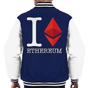 I Heart Ethereum Men's Varsity Jacket