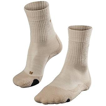 Falke Trekking 2 middelgrote wollen sokken - zand Melange