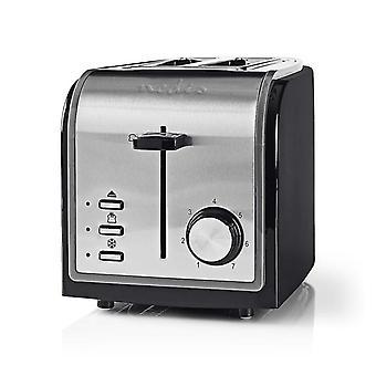 NEDIS KABT120EBK Toaster 2 breite Schlitze schwarz