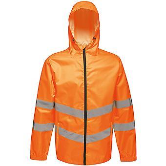 Regatta Mens Hi Vis Pro Packable Waterproof Workwear Jacket