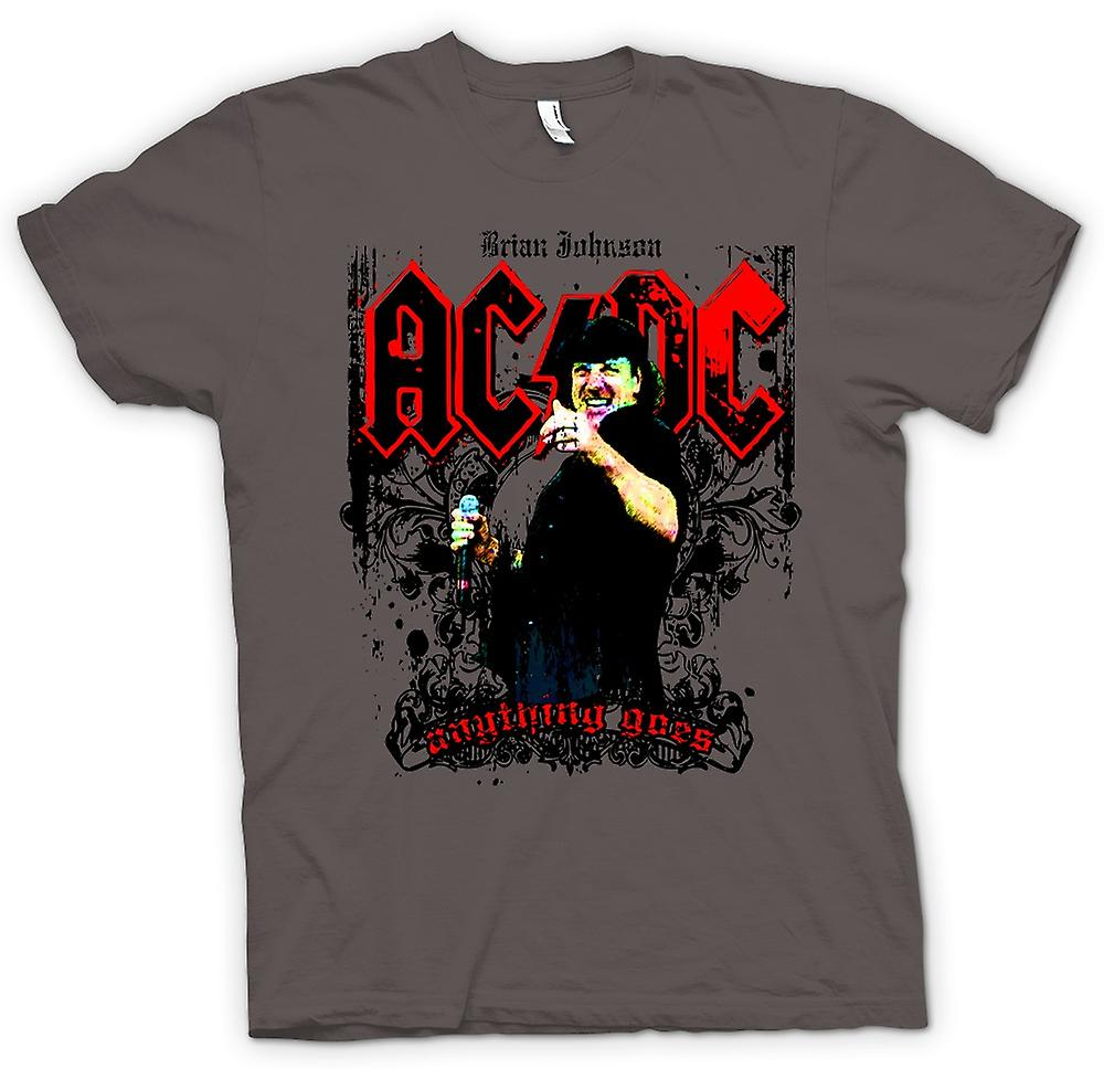 Mens T-shirt - AC / DC - Brian Johnson