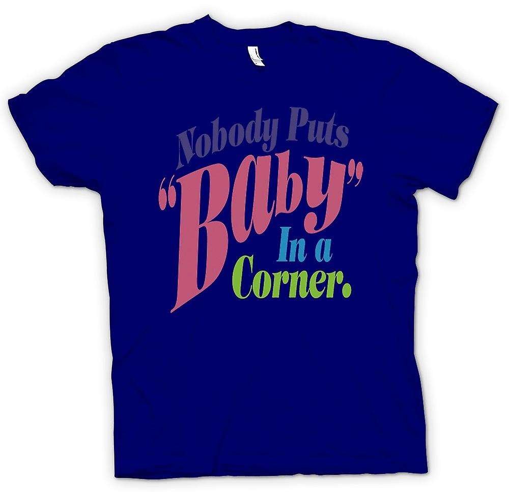 Mens T-shirt - Dirty Dancing - Baby In hoek - Funny