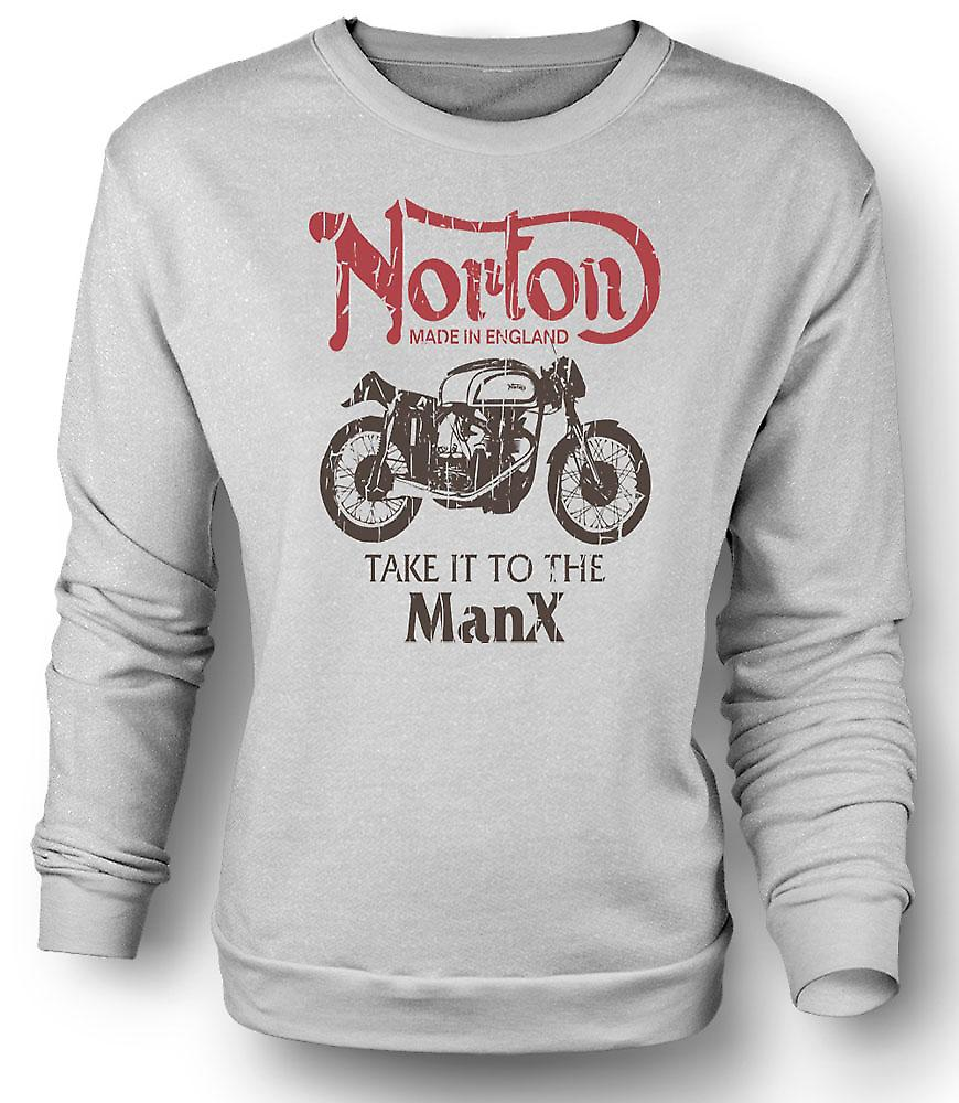 Mens Sweatshirt Take It To The Manx