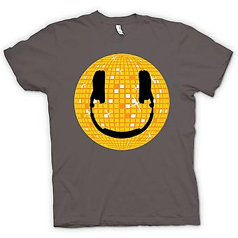 Womens T-shirt - Smiley Face - Disco Ball