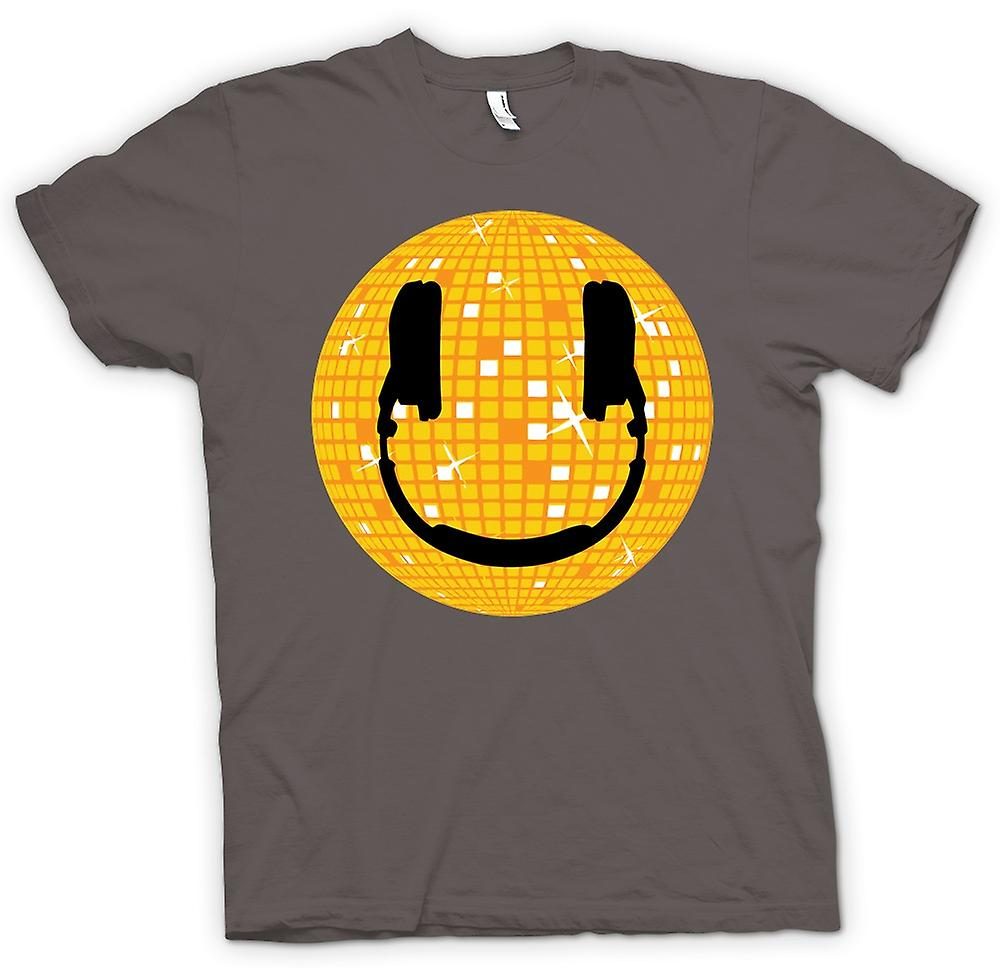 Womens T-shirt - Smiley-Gesicht - Disco-Kugel