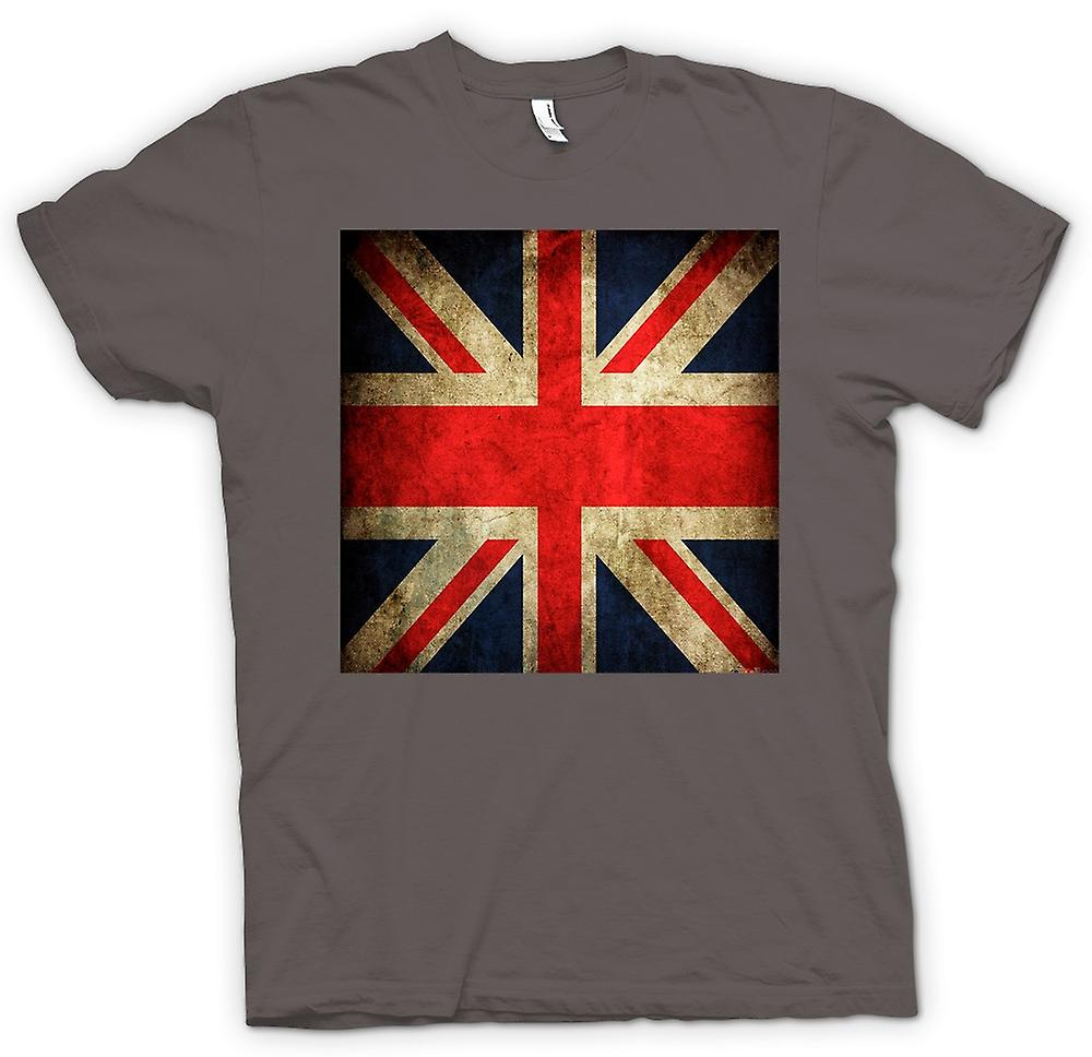 Womens T-shirt - Great Britiain Grunge Flag