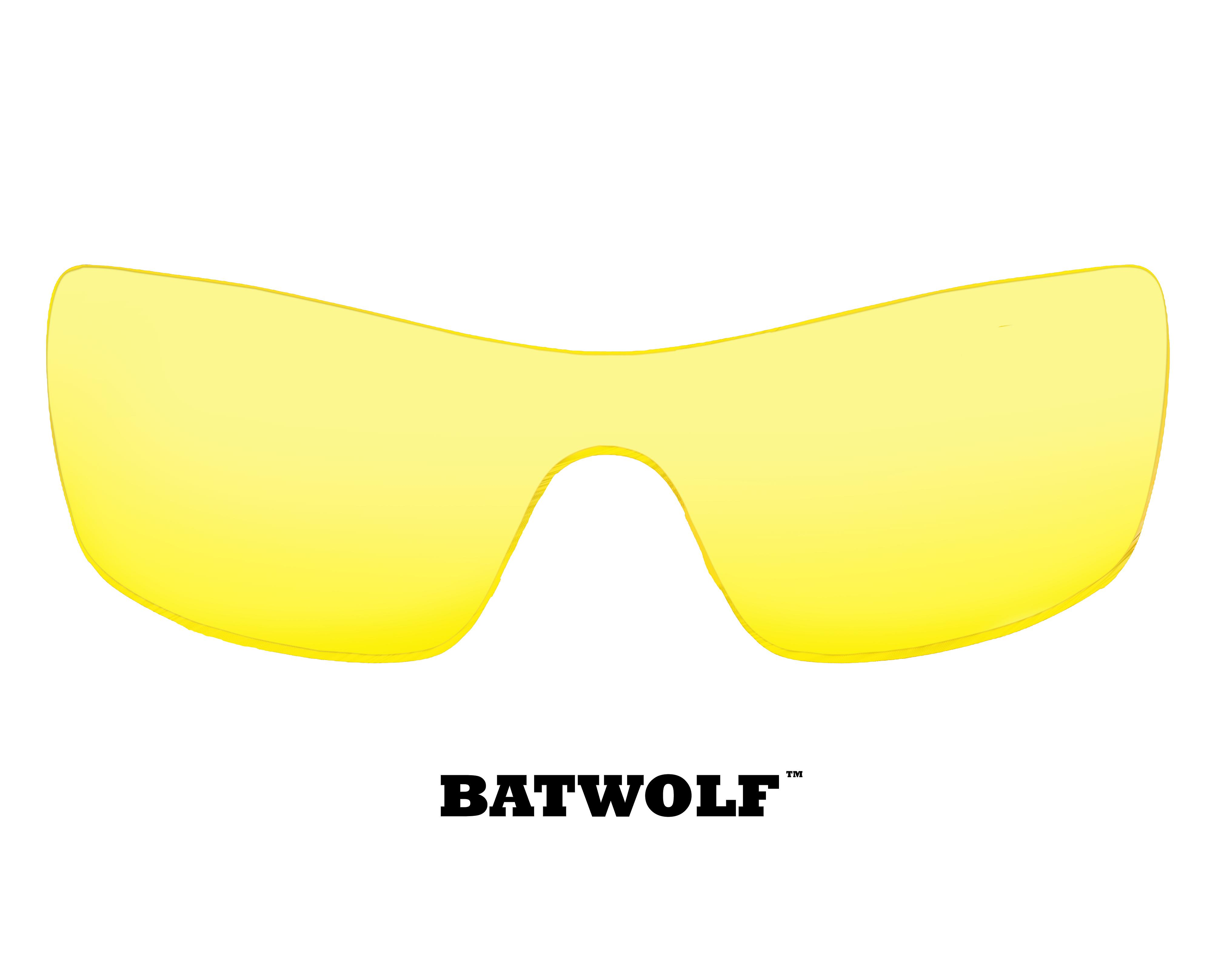 Replacement Lenses Compatible with OAKLEY Batwolf Hi Yellow