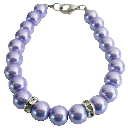 Flower Girl Bracelet Lilac Pearls Attractive Jewelry Wedding Jewelry