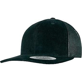 Flexfit RETRO trucker Corduroy Snapback Cap - Black