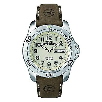Timex T46681SU wrist watch for men, leather, Brown