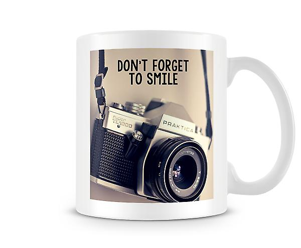 Don't Forget To Smile Camera Mug