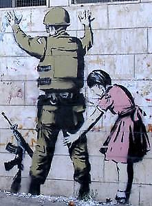 Banksy Girl & Soldier fridge magnet