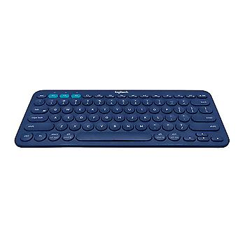 Logitech K380 Multi-Device Bluetooth Keyboard für Windows, Mac, Chrome, Android, iOS und Apple TV-QWERTY, UK Layout, Blue