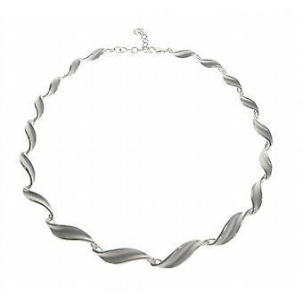 Cavendish French Sterling Silver Swirled Leaf Necklace