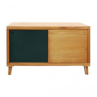 Meubles Rebecca Mobile Low Belief 2 Ante Brown Green Wood 58.5x100x45