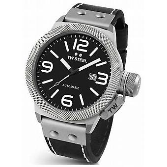 TW Steel Gents Canteen 50mm Automatic Black Leather CS6 Watch