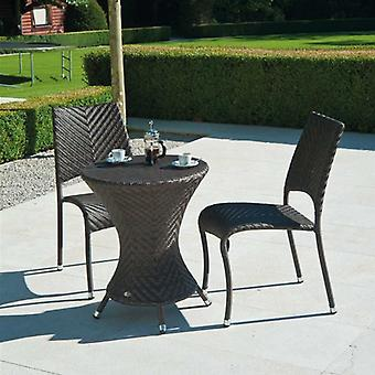 Alexander Rose Ocean Wave Bistro Set With Stacking Chair
