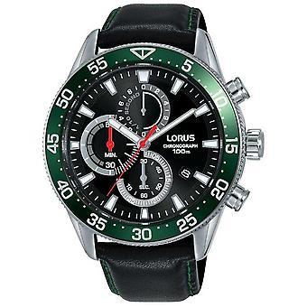 Mer från Lorus | Mens kronograf | Grön bezel | Svart läderrem | RM347FX9 klocka