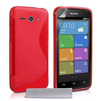 Caseflex Huawei Ascend Y530 Silicone Gel SLine Case Red