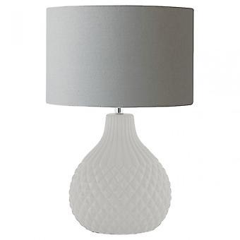 Premier Home Jax Table Lamp, Ceramic, Linen, Grey