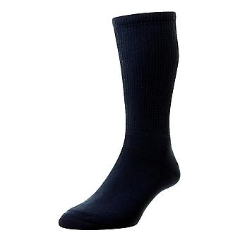 HJ Hall Cotton Diabetic Socks - Navy