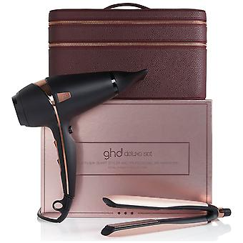 GHD Royal Dynasty Platinum + Styler ja Air Professional Hiustenkuivaaja Limited Edition Deluxe setti