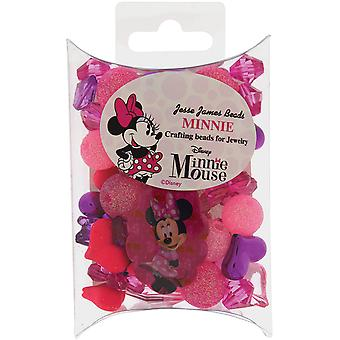 Disney Craft Beads For Jewelry-Minnie Mouse DSNDIU-8410