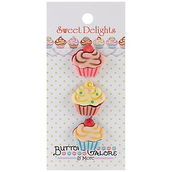 Sweet Delights Buttons Cupcakes Sd 112