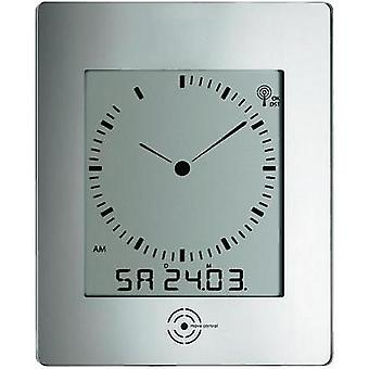 Radio Wall clock TFA 60-4507 240 mm x 285 mm x 39 mm Silver