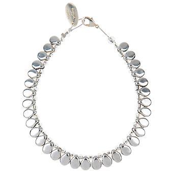Carrie Elspeth spektrum planglas Sølv Teardrop Stretch armbånd