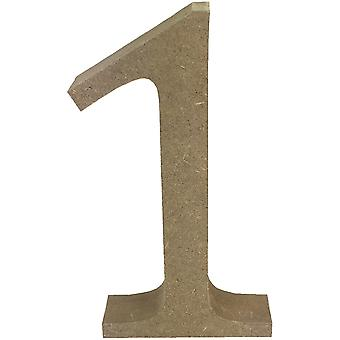 Smooth MDF Blank Shape-Serif Number 1 TCMDF001