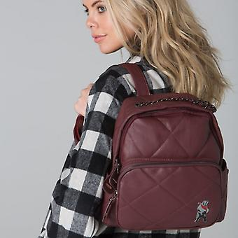 POLAR WHITES BURGUNDY QUILTED BACKPACK o : o