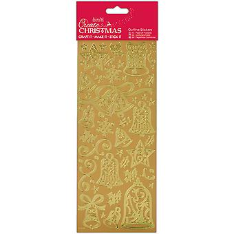 Papermania kerst Outline Stickers-Gold klokken PM810921 maken