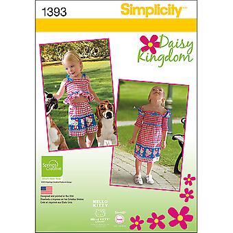 Simplicity Toddlers Sportswear-1/2-1-2-3-4 US1393A