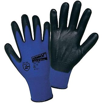 worky 1165 Super Grip polyamide nitrile fine knitted gloves 100% Polyamide with nitrile coating Size 8