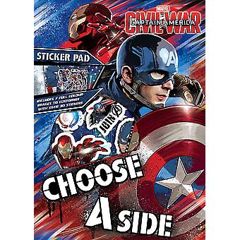 Captain America Civil War Sticker Pad Childrens Activity Stickers Party Bag Kids