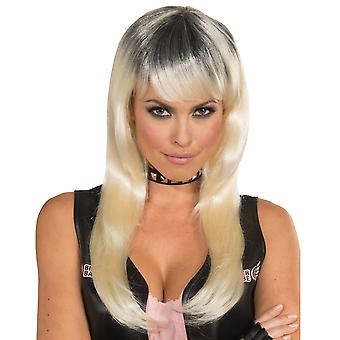 Bad Biker Hot Mamma Outlaw Gang Blonde Women Costume Wig