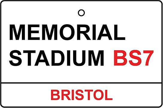 Bristol Rovers / Memorial Stadium Street Sign Car Air Freshener