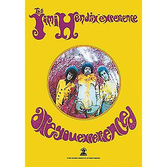 Affiche de tissu grand Jimi Hendrix Are You en Experienced / drapeau 1100 x 750 mm (h)