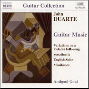 J. Duarte - John Duarte: Guitar Music [CD] USA import